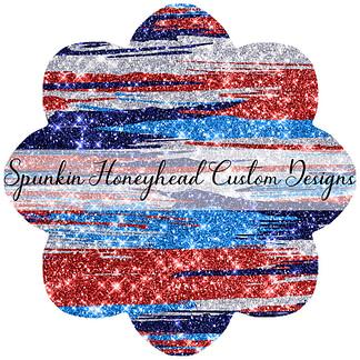 American Summer - Glitter Brushstrokes