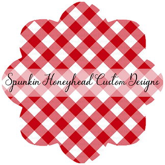 American Summer - Gingham - Red - Small Scale