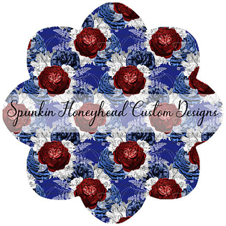 American Summer - Floral - Blue