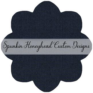 Limited Release - Slubbed Florals - Denim Textures - Evening Blue (Part of Always Available)