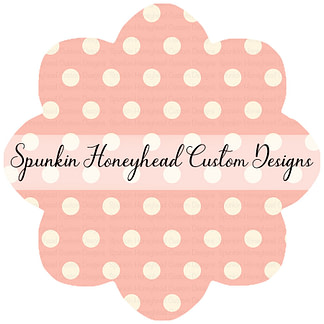 Round 40 - Funky Fruits - Peach/Cream Dots
