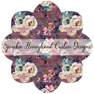 Limited Release - Slubbed Florals - Floral on Slubbed Bordeaux