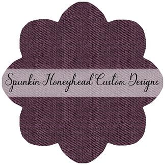 Limited Release - Slubbed Florals - Denim Textures - Bordeaux