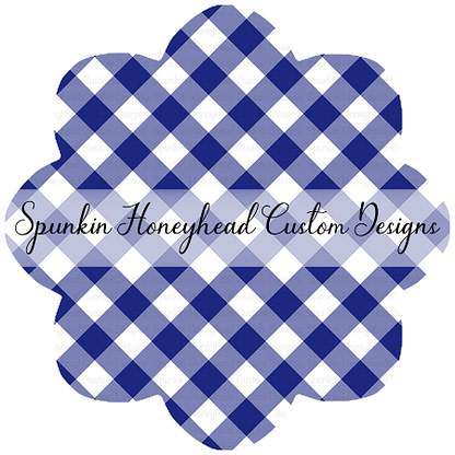 American Summer - Gingham - Blue - Small Scale