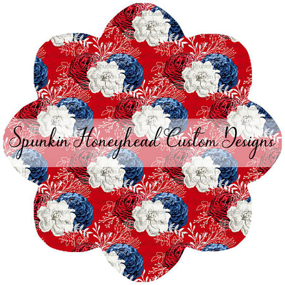American Summer - Floral - Red