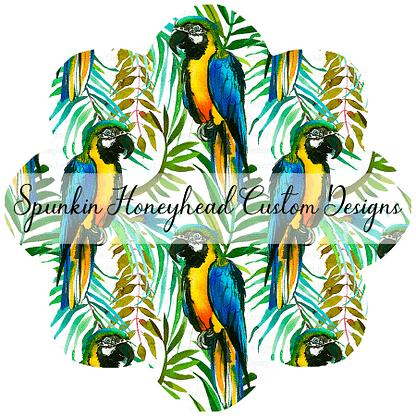 Flash Round 39 - Birds Gone Wild - Macaws White