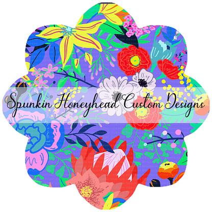 Round 41 - Paradise Florals - Floral Main Periwinkle
