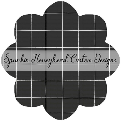 Round 42 - School Time - Blackboard - Grid (Charcoal/White)