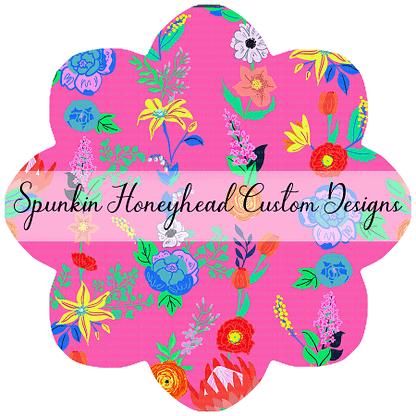 Round 41 - Paradise Florals - Garland Bright Pink
