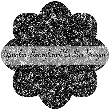 Round 43 - Tricks & Treats - Solid Glitter - Black