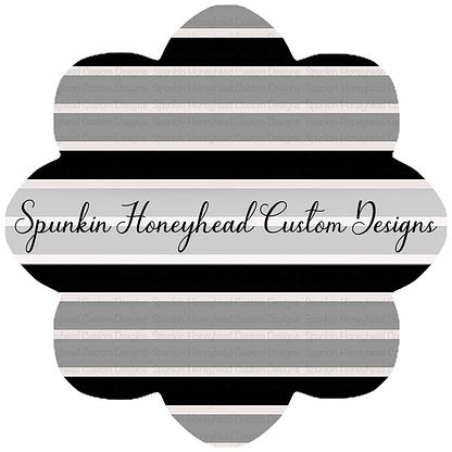 Round 43 - Tricks & Treats - Stripes - Black/Grey/White