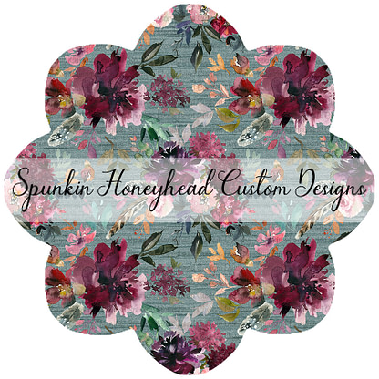 Limited Release - Slubbed Florals - Floral on Slubbed Sage