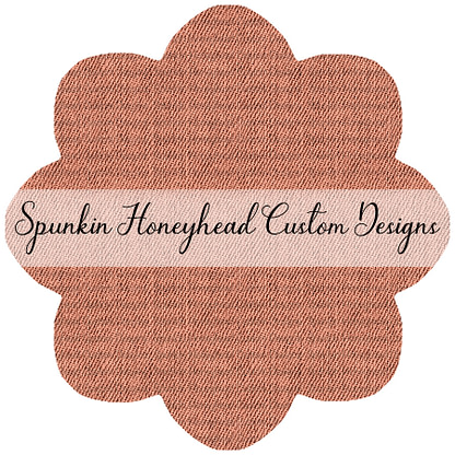 Limited Release - Slubbed Florals - Denim Textures - Peach
