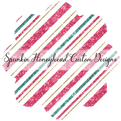 Round 45 - Whimsical Winter - Holiday Glitter Stripes