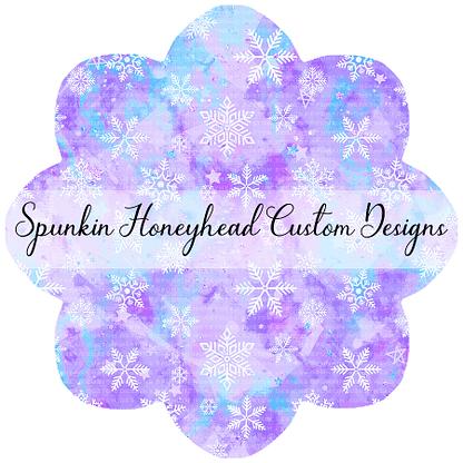 Round 45 - Winter Wonderland - Snowflakes on Purple/Icy Blue Swirls