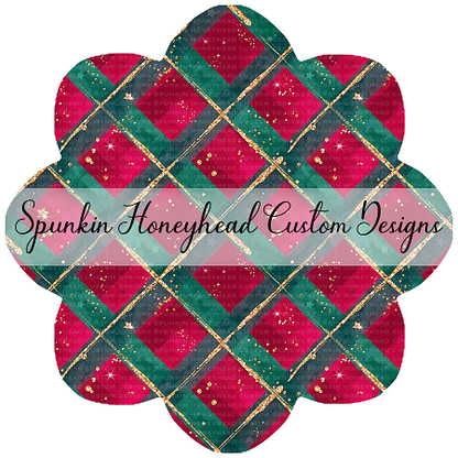 Round 45 - Whimsical Winter - Winter Plaid Sparkle