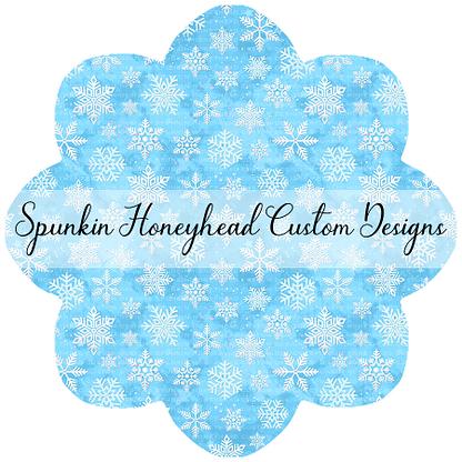 Round 45 - Winter Wonderland - Snowflakes on Icy Blue Swirls