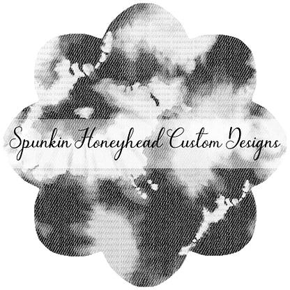 Round 46 - Mid Summer 2021 - Distressed/Alcohol Ink Denim Textures - Bleached on Medium Black