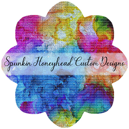 Round 46 - Mid Summer 2021 - Distressed/Alcohol Ink Denim Textures - Rainbow Alcohol Ink