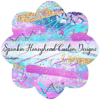 Round 46 - Mid Summer 2021 - Electric Skies - Brush Strokes Pink/Purple/Aqua
