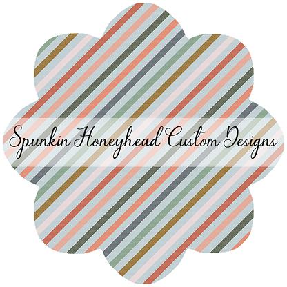"Round 48 - Spring Fling - Bias Stripes (1/4"" Stripe Width)"