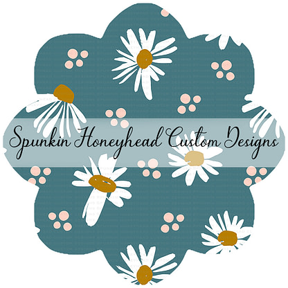 Round 48 - Spring Fling - Daisies on Turquoise