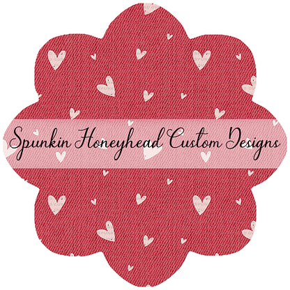 Round 47 (Flash Round) - I Heart You - Denim Textures - Hearts on Red