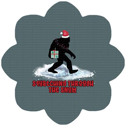 Round 45 - Squatching Through the Snow - Buffalo Plaid - Red/Black